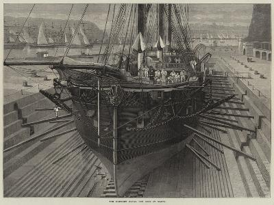 The Somerset Naval Dry Dock at Malta--Giclee Print