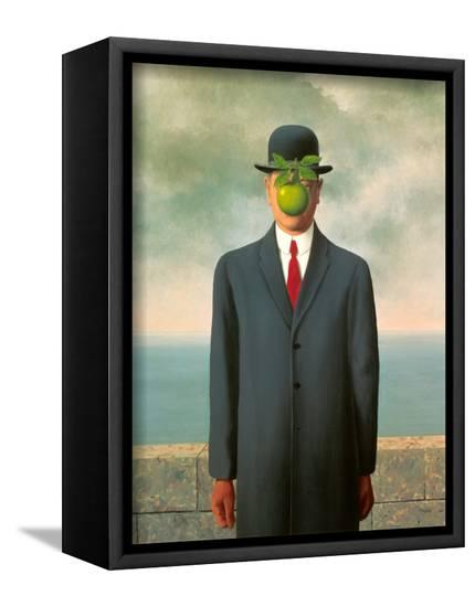 abe5efb1331 The Son of Man Framed Canvas Print by Rene Magritte