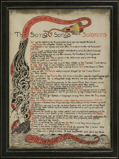 The Song of Songs Which Is Solomon's, 8th September 1907-Rudyard Kipling-Giclee Print