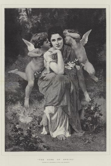 The Song of Spring, in the Paris Exhibition-William-Adolphe Bouguereau-Giclee Print