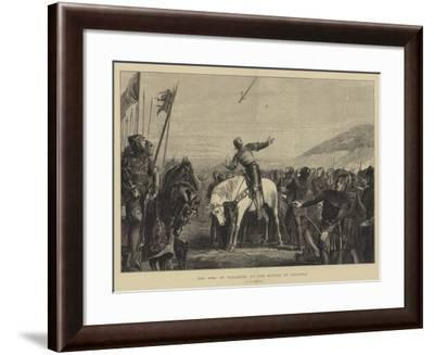 The Song of Taillefer at the Battle of Hastings--Framed Giclee Print
