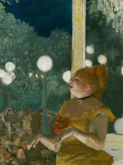 The Song of the Dog, Gouache and Pastel on Monotype-Edgar Degas-Giclee Print
