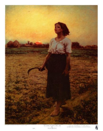 The Song of the Lark-Jules Breton-Art Print