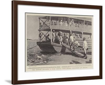 The Soudan Advance, a Sick Convoy from Berber Embarking at Shalal-Henry Marriott Paget-Framed Giclee Print