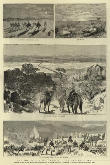 The Soudan Expedition, with Hicks Pasha'A Force--Giclee Print