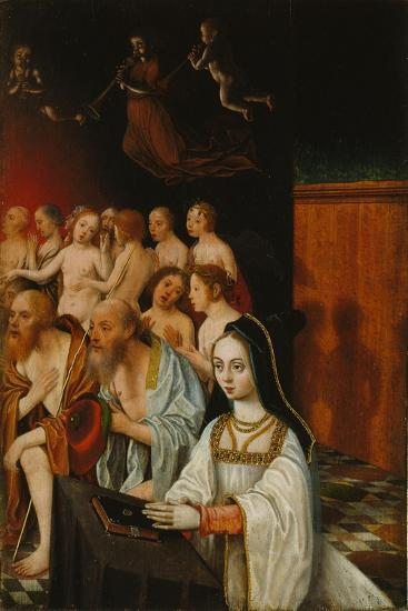 The Souls of the Just and Donor, C. 1520-Jan Mostaert-Giclee Print