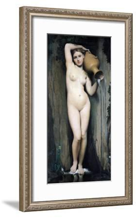 The Source, 1856-Jean-Auguste-Dominique Ingres-Framed Giclee Print