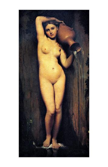 The Source-Jean-Auguste-Dominique Ingres-Giclee Print