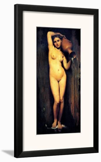 The Source-Jean-Auguste-Dominique Ingres-Framed Giclee Print