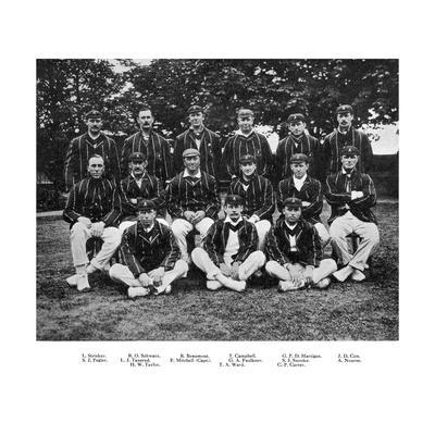 The South African Cricket Team of 1912--Giclee Print
