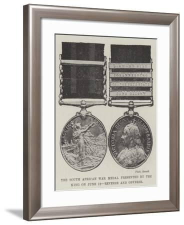 The South African War Medal Presented by the King on 12 June--Framed Giclee Print
