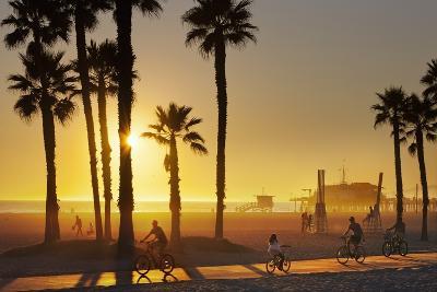 The South Bay Bicycle Trail at Sun Set.-Jon Hicks-Photographic Print