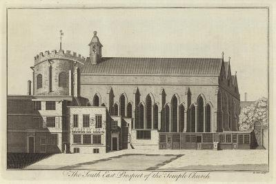 The South East Prospect of the Temple Church, London--Giclee Print