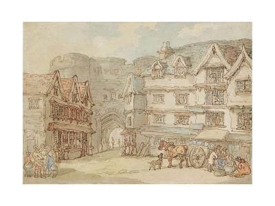 The South Gate, Exeter, C.1810-Thomas Rowlandson-Giclee Print