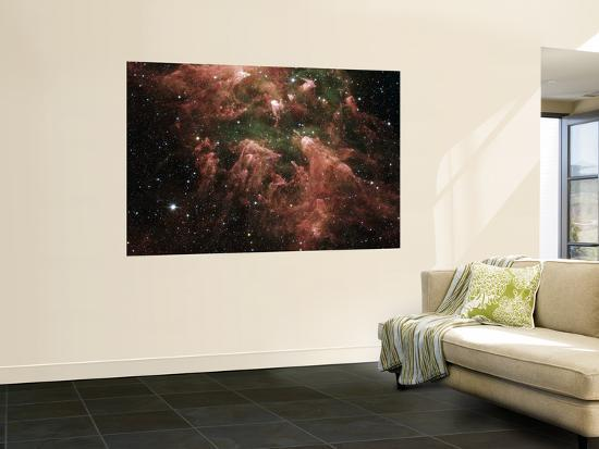 The South Pillar Region of the Star-Forming Region Called the Carina Nebula--Wall Mural