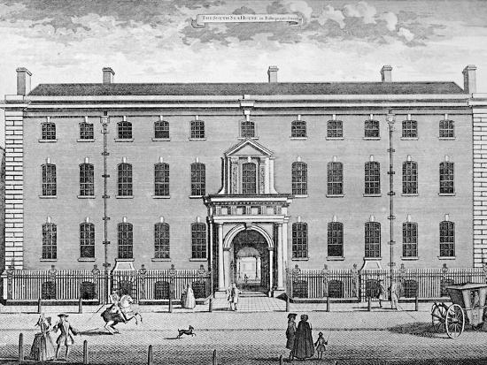 'The South Sea House in 1754', mid 18th century, (1928)-Unknown-Photographic Print