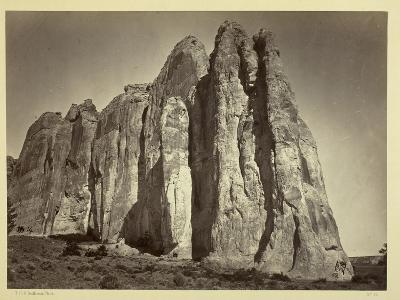 The South Side of Inscription Rock, 1873-Timothy O'Sullivan-Photographic Print