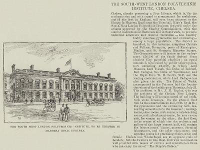 The South West London Polytechnic Institute, to Be Erected in Manresa Road, Chelsea-Frank Watkins-Giclee Print