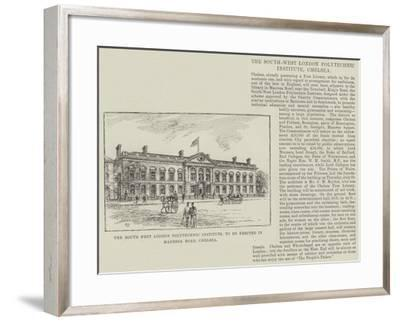 The South West London Polytechnic Institute, to Be Erected in Manresa Road, Chelsea-Frank Watkins-Framed Giclee Print