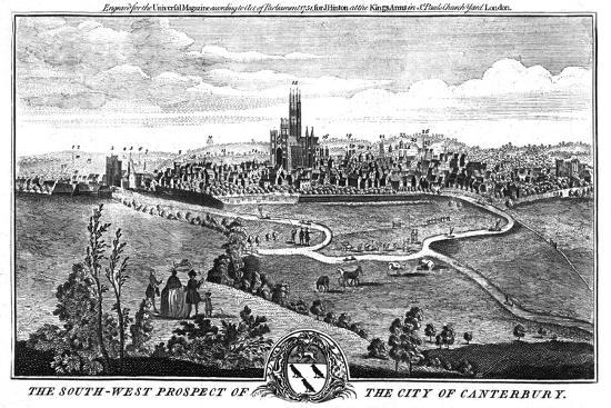 'The South-West Prospect of the City of Canterbury.', c1776-Unknown-Giclee Print