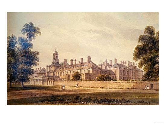 The South-West View of Kensington Palace, 1826-John Buckler-Giclee Print
