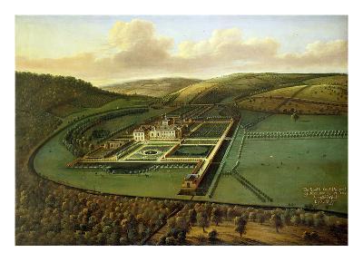 The Southeast Prospect of Hampton Court, Herefordshire, c.1699-Leonard Knyff-Giclee Print