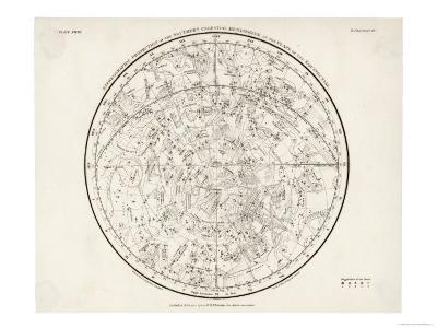 The Southern Hemisphere with Its Zodiac Signs--Giclee Print