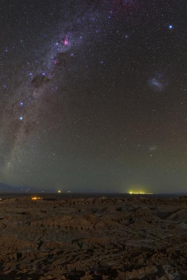 The Southern Milky Way Above Moonlit Landscape Valle De La Luna-Babak Tafreshi-Photographic Print