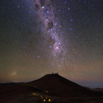 The Southern Milky Way and the Southern Cross Above the Cerro Paranal Observatory in Chile-Babak Tafreshi-Photographic Print