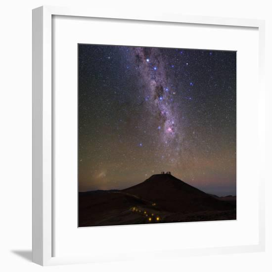 The Southern Milky Way and the Southern Cross Above the Cerro Paranal Observatory in Chile-Babak Tafreshi-Framed Photographic Print