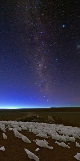 The Southern Milky Way Fades in the Morning Twilight over Ice Fields-Babak Tafreshi-Photographic Print