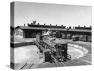 The Southern Pacific Yard Displaying Early Locomotives