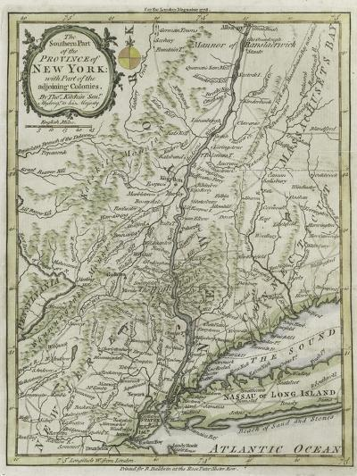 The Southern Part of the Province of New York, with Part of the Adjoining Colonies, 1778--Giclee Print