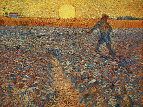 The Sower, c.1888-Vincent van Gogh-Giclee Print