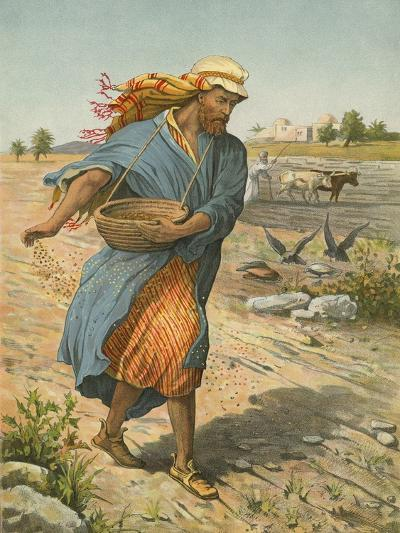 The Sower Sowing the Seed-English School-Giclee Print