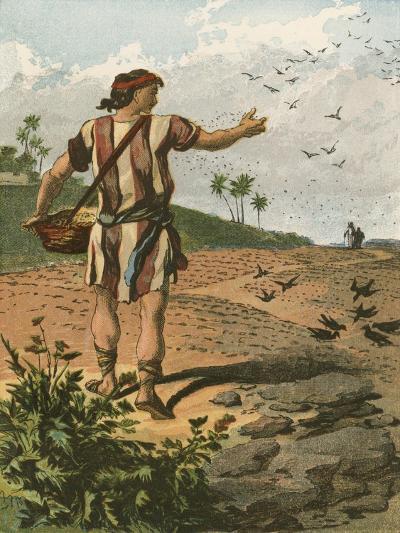 The Sower-English School-Giclee Print