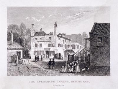 The Spaniards Inn, Hampstead Heath, Hampstead, London, C1840--Giclee Print