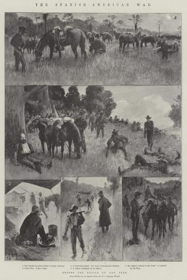 The Spanish-American War, before the Battle of San Juan-Amedee Forestier-Giclee Print
