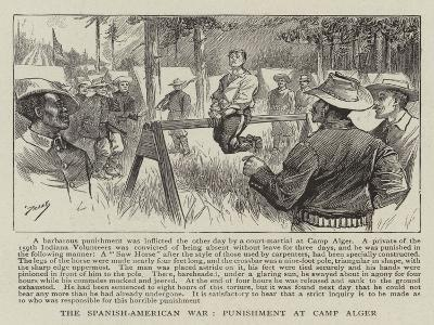 The Spanish-American War, Punishment at Camp Alger--Giclee Print
