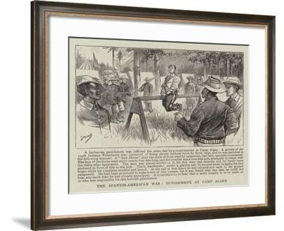 The Spanish-American War, Punishment at Camp Alger--Framed Giclee Print