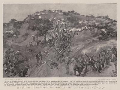 The Spanish-American War the Americans Storming the Hill of San Juan-William Hatherell-Giclee Print