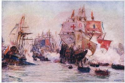 The Spanish Armada 1588, 1915-William Lionel Wyllie-Giclee Print