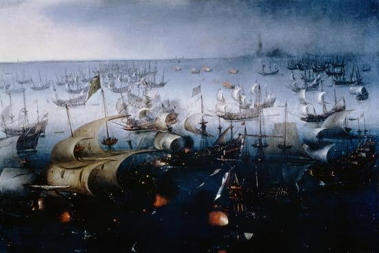 The Spanish Armada Defeated in the English Channel in July 1588-Hendrick van de Sande Bakhuyzen-Giclee Print