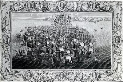 The Spanish Armada, Published by John Pine, 1739--Giclee Print