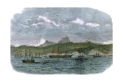 The Spanish Blockading Squadron at Valparaiso, Chile, C1880--Giclee Print