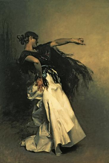 """The Spanish Dancer, Study for """"El Jaleo,"""" 1882-John Singer Sargent-Giclee Print"""