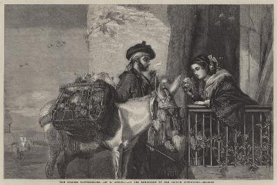 """The Spanish Flowerseller-Matthew """"matt"""" Somerville Morgan-Giclee Print"""