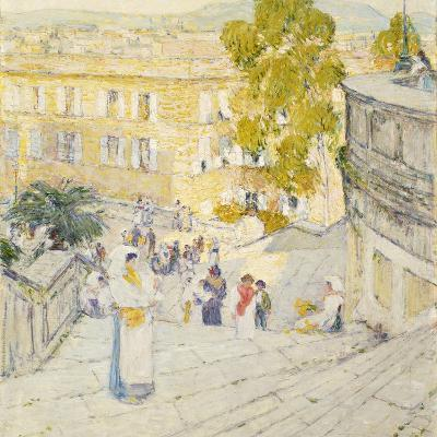 The Spanish Steps of Rome, 1897-Childe Hassam-Giclee Print