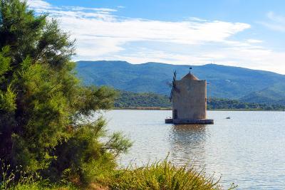 The Spanish Windmill on the Lagoon of Orbetello, Orbetello, Grosseto Province, Tuscany, Italy-Nico Tondini-Photographic Print