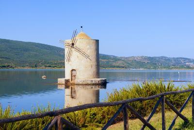 The Spanish Windmill on the Lagoon of Orbetello, Tuscany-Nico Tondini-Photographic Print